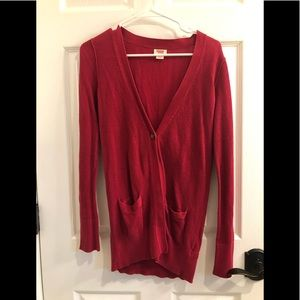 Red Cardigan Size S Target